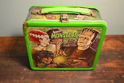 Vintage 1979 Universal Movie Monsters Metal Lunchbox - No Thermos