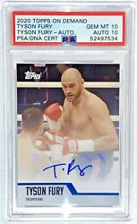 Tyson The Gypsy King Fury Auto 2020 Topps On Demand Rare 10andrsquos Gem Mint And Auto