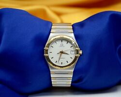 Omega Constellation Watch 18k Yellow Gold And Stainless Steel Watch W/date