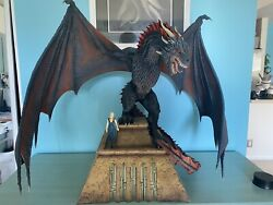 """Game Of Thrones Drogon Custom Statue Daenerys """"dragons Are A Girl's Best Friend"""""""