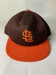 Vintage St. Louis Browns Roman Pro 100 Wool Fitted Baseball Hat/cap 7 3/4