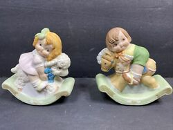 1986 House Of Global Art Dolly Dingle Billy Bump Figurines Rocking Horse