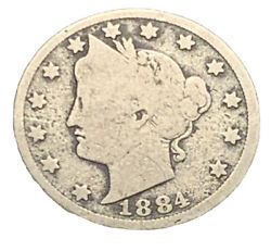 1884 Vg Liberty V Nickel | Scarce Date | Exact Coin Free Shipping 6870