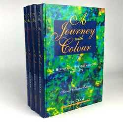 Len Cram A Journey With Colour 4 Volumes 1st Edition Signed