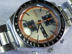 Seiko Speed Timer 6138-0030 Vintage Chronograph Automatic Mens Watch Auth Works
