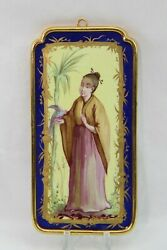Sevres Hand Painted Placques Of Oriental Woman In Brass Frame. 100 Authentic.