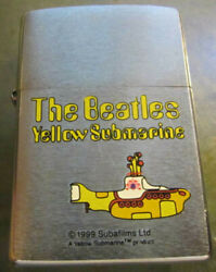 Vintage Rare 2000 The Beatles Yellow Submarine Zippo Lighter Excellent Condition
