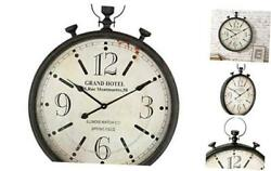 Large Pocket Watch Metal Wall Clock With Antique Frame For Homekitchenliving