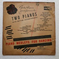 Two Pianos Piano Melodies For Dancing Lp Record World 33rpm10-2177