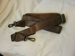 Vintage Heavy Duty Leather Luggage Shoulder Replacement Strap Adjustable 57quot; $24.99