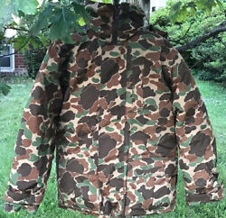 Vintage Hunting Jacket Goose Down Camo Parka Trophy Club Menandrsquos Large Very Rare