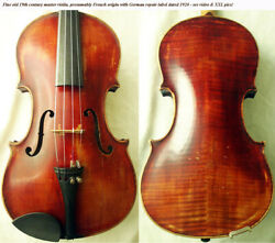 Fine Old French 19th Century Master Violin - Video - Antique バイオリン скрипка 368