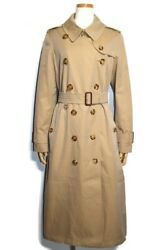 Outer Long Trench Coat Aldeby Ladies 40 Beige Cotton Belted List Price
