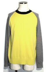 Louis Vuitton Sweater Mens L Yellow Gray Wool Cashmere Shippingfree Collection