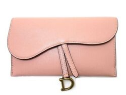 Dior Purse Saddle Chain Wallet Pink With Coin Case Diagonal Hanging Shoulder