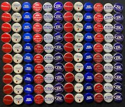 120 Red White And Blue Beer Bottle Caps/crowns - Bud Light, Budweiser, Michelob