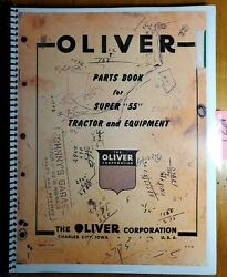 Oliver Super 55 55 Tractor And Equipment Parts Book Manual S1-9-e2 1955
