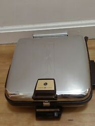 Ge General Electric Grill Waffle Maker Baker Iron A4g46t Vintage Removable Plate