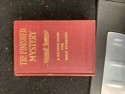Studies In The Scriptures The Finished Mystery 1918 Ibsa Rare Watchtower
