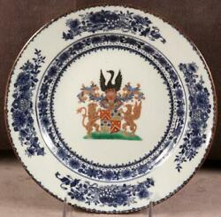18th C Chinese Export Armorial Plate For Dutch Market Jonge Qianlong Period 36