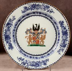 18th C Chinese Export Armorial Plate For Dutch Market Jonge Qianlong Period 38