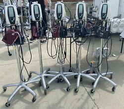 Lot Of 5 Welch Allyn Vital Signs Monitor 420 W/stand Accessories Nibp Spo2 Temp