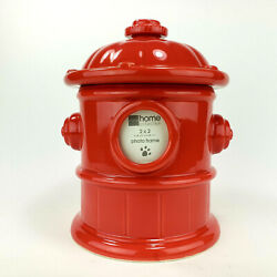 Fire Hydrant Dog Treat Jar Cookie Jar Jc Penney Home Collection Red Stoneware