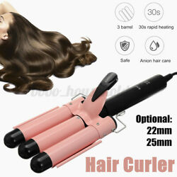 22/25mm Electric Hair Curler Curling Iron Ceramic Waver Anion Care Styling .