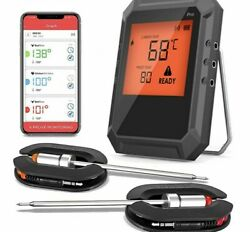 Digital Wireless Bluetooth Cooking Food Thermometer Smart Kitchen Smoker Grill