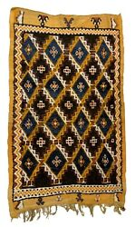 Handmade Antique Moroccan Berber Rug 4.5and039 X 7.2and039 137cm X 219cm 1880s - 1b871