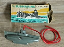Vintage Tresco The Submarine 1950's Diving Toy Rare Boxed Made In England  K427