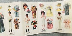 Uncut Vintage Advertising Munsingwear Family Paper Dolls With Clothes Baseball