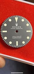 Rolex Submariner Reference 5513 Maxi 1 Meters First Original Vintage Dial