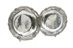Pair Of Boin Taburet French Sterling Silver Centerpiece Bowls In Rococo Style