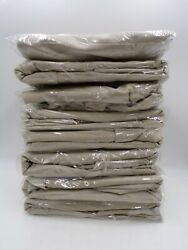 8 Pottery Barn Classic Long Dining Chair Slipcover Performance Linen Stone 103j