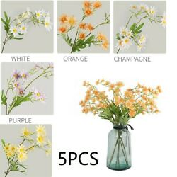 5pcs Artificial Daisy Flowers Fake Plants Outdoor Home Wedding Decorating Pack