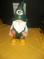 """Green Bay Packers Nfl Team Gnome 11.5"""" Forever-collectibles Figurine Mint"""