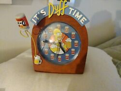 The Simpsons It's Duff Time Alarm Clock Homer Simpson Rare C. 2002 Working. Beer