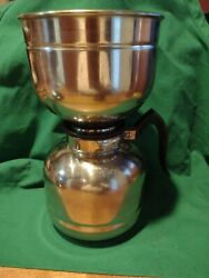 Vintage Nicro Stainless Steel And Cory Plastic Vacuum Coffee Maker W Manual