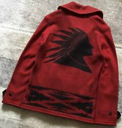 Used Polo Native American P Coat Indian Head Design Size S