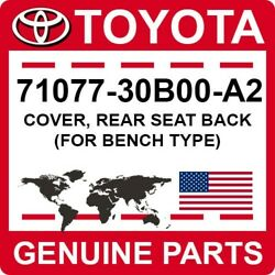 71077-30b00-a2 Toyota Oem Genuine Cover, Rear Seat Back For Bench Type