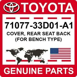 71077-33d01-a1 Toyota Oem Genuine Cover Rear Seat Back For Bench Type
