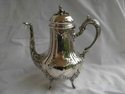 Antique French Sterling Silver Coffee Potlouis Xv Styleearly 20th Century