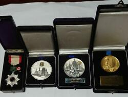 Order Of The Rising Sun Japanese Police Relations Medal With Case 4set Vintage