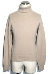 Hermes Turtleneck Sweater Knit Mens S Beige Cashmere From Japan Shippingfree
