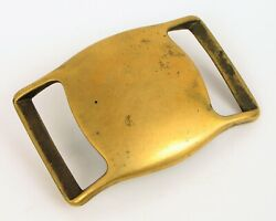 Antique Early Brass Civil War Era Heavy Belt Buckle Military About 3 Long Nice