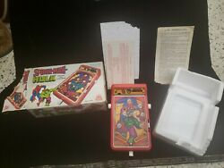 Vintage Spiderman And Hulk Mini Toy Pinball Game 1979 Castle Toy Company