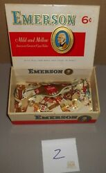 Vintage Lot Of Uncounted Cigar Bands And Emerson Box El Tolna-bering-zechbauer