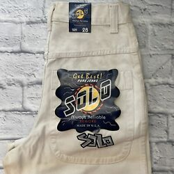 Vintage 1990s Solo Semore Wide Leg Jeans Size 28x29 Made In Usa Jnco Rave Baggy