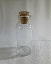 T.c.w.co 1 Usa Apothecary Bottle With Cork Vintage